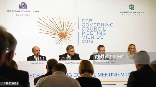 Luis de Guindos Vice President of the European Central Bank Vitas Vasiliauskas Governor of the Central bank of Lithuania the President of the ECB...