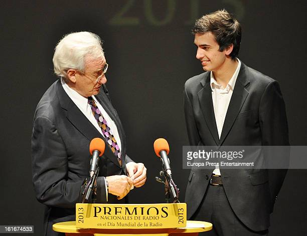 Luis del Olmo and Concha Garcia Campoy's son Lorenzo Diaz attend the National Radio Awards 2013 on February 13, 2013 in Madrid, Spain.
