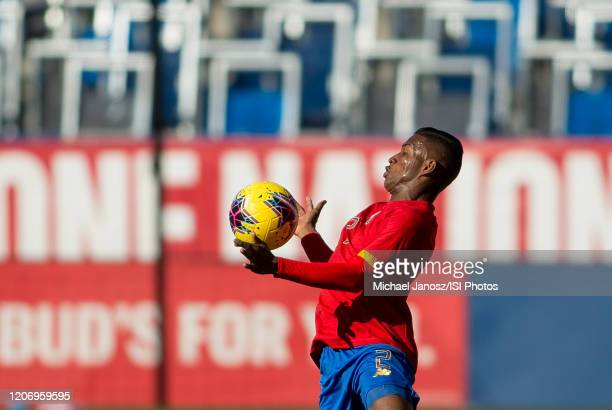 Luis Diaz of Costa Rica traps a ball during a game between Costa Rica and USMNT at Dignity Health Sports Park on February 1 2020 in Carson California