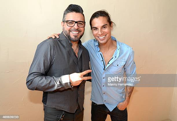 Luis Enrique and Julio Iglesias Jr. Attend the Press Conference to announce nominees for 2014 Induction to the Latin Songwriters Hall of Fame in...