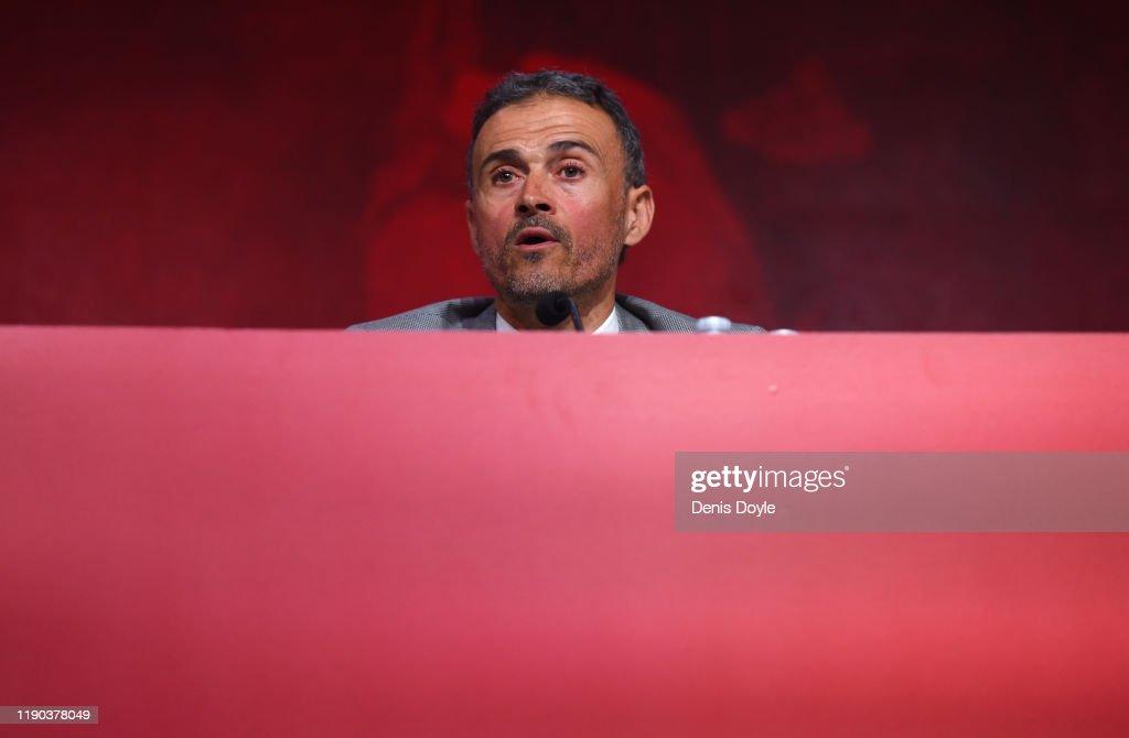 Luis Enrique Press Conference : News Photo