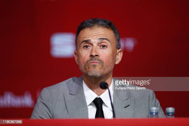 Luis Enrique attends during his presentation as new head coach of football Spain Team at Ciudad del Futbol on November 26, 2019 in Las Rozas, Spain.