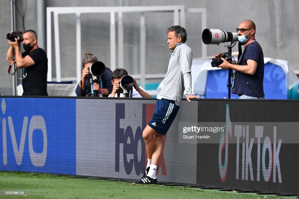 Spain Training Session and Press Conference - UEFA Euro 2020: Round of 16 : News Photo