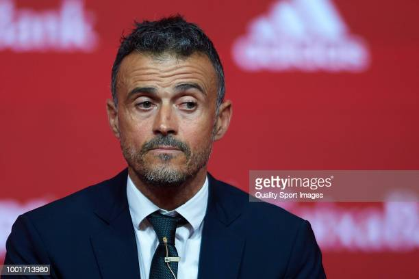 Luis Enrique Martinez looks on after being announced as new manager of Spain National Football Team on July 19 2018 in Las Rozas Madrid Spain