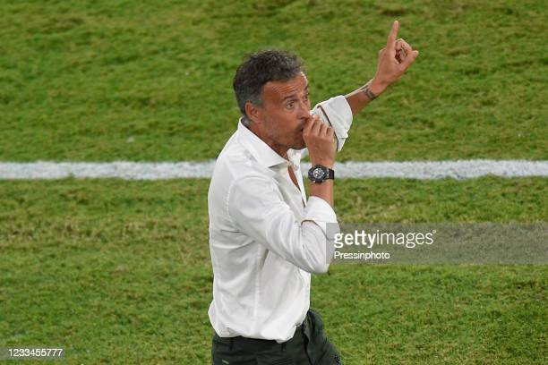Luis Enrique Martinez of Spain during the match between Spain and Sweden of Euro 2020, group E, matchday 1, played at La Cartuja Stadium on June 14,...