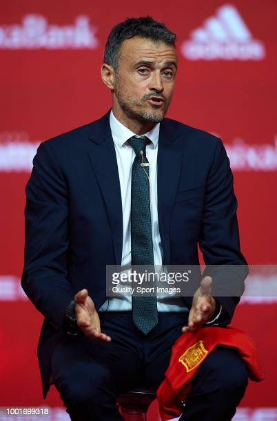 Luis Enrique Martinez speaks after being announced as new manager of Spain National Football Team on July 19 2018 in Las Rozas Madrid Spain