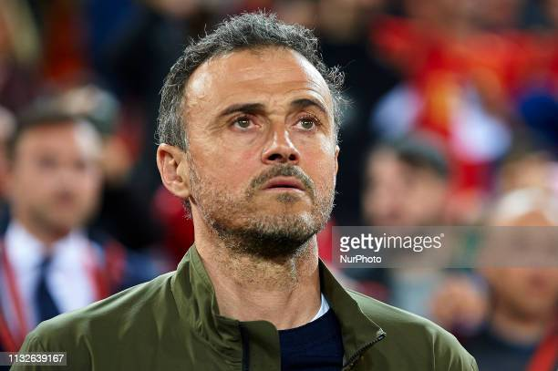 Luis Enrique of Spain during the 2020 UEFA European Championships group F qualifying match between Spain and Norway at Estadi de Mestalla on March 23...