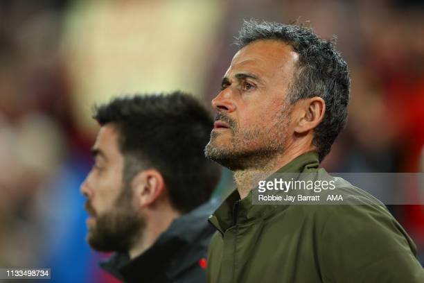 Luis Enrique the head coach / manager of Spain during the 2020 UEFA European Championships group F qualifying match between Spain and Norway at...