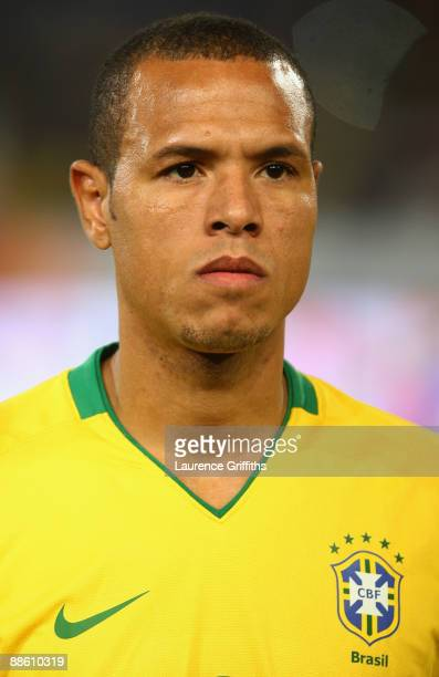 Luis Fabiano of Brazil during the FIFA Confederations Cup match beween Italy and Brazil at The Loftus Versfeld Stadium on June 21 2009 in Pretoria...