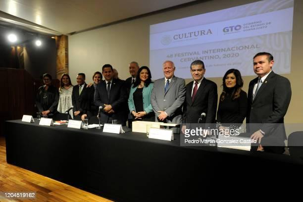 Luis Felipe Guerrero Agripino Mariana Aymerich Alejandra Fraustro Guerrero secretary of Culture of México Fernando Rojas viceminister of Culture of...