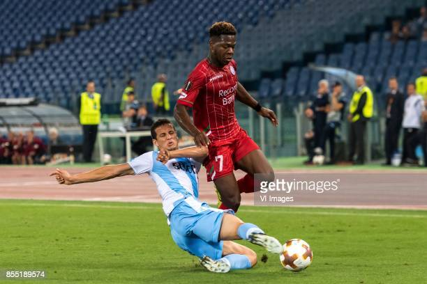 Luis Felipe Ramos Marchi of SS Lazio Aaron Leya Iseka of SV Zulte Waregem during the UEFA Europa League group K match between Lazio Roma and Zulte...