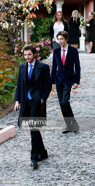 Luis Fernandez Gomez-Acebo and Pablo Fernandez Gomez-Acebo attend the christening of Nicolas Gomez-Acebo, son of Fernando Gomez-Acebo and Nadia...