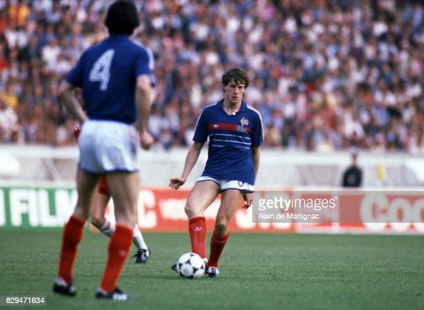 Luis Fernandez of France during the European Championship match between France and Denmark at Parc des Princes Paris France on 12th June 1984
