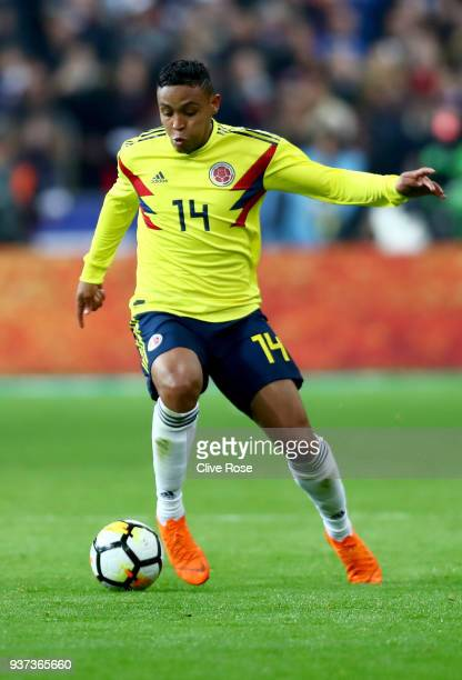 Luis Fernando Muriel of Columbia in action during the International friendly match between France and Columbia at Stade de France on March 23 2018 in...