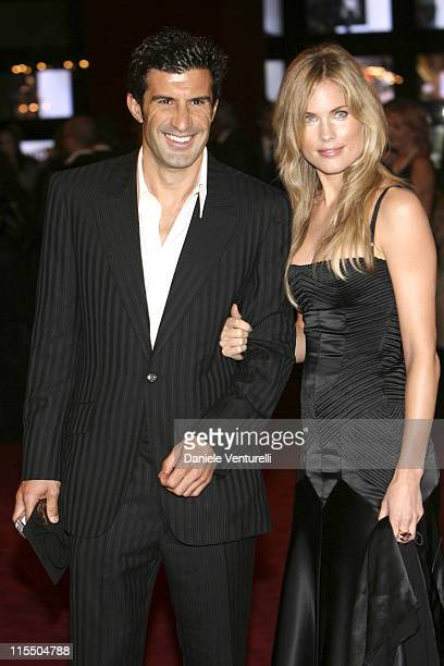 Luis Figo and guest during Dolce Gabbana 20th Anniversary in Milano Italy