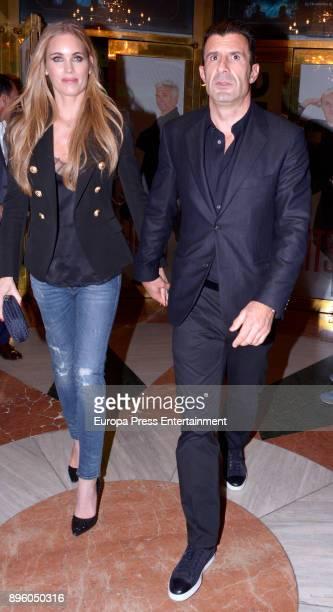 Luis Figo and Helen Svedin are seen on November 6 2017 in Madrid Spain