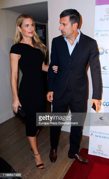 Luis Figo and Helen Svedin attend 'Charity Auction Fundacion Clinica Menorca' at Hotel Wellington on November 19 2019 in Madrid Spain