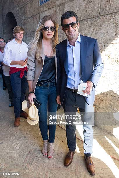 Luis Figo and Helen Svedin attend 'Feria de Abril 2015' bullfighting on April 18 2015 in Seville Spain