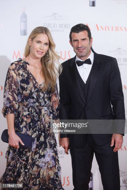 Luis Figo and Helen Svedin attend Malleolus by Emilio Toro Wineries 20th anniversary party on October 01 2019 in Madrid Spain
