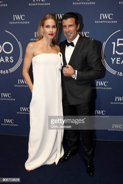 Luis Figo and Helen Svedin attend the IWC Schaffhausen Gala celebrating the Maison's 150th anniversary and the launch of its Jubilee Collection at...
