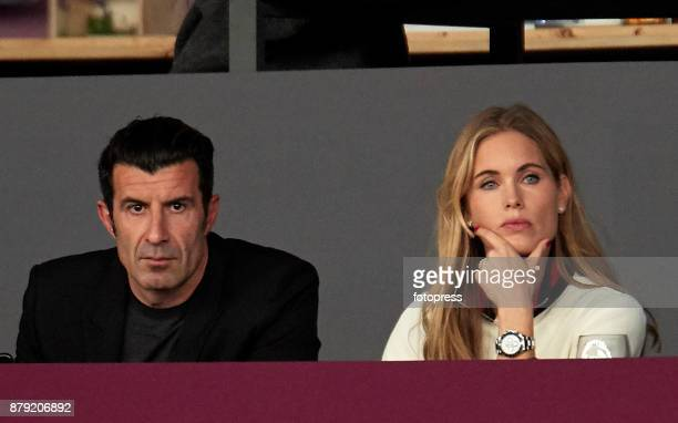Luis Figo and Helen Svedin attend the Madrid Horse Week 2017 at IFEMA on November 25 2017 in Madrid Spain