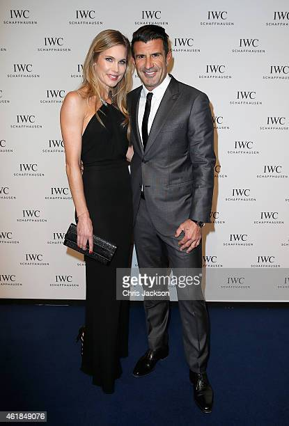 Luis Figo and Helen Svedin attends the IWC Gala Dinner during the Salon International de la Haute Horlogerie 2015 at the Palexpo on January 20 2015...