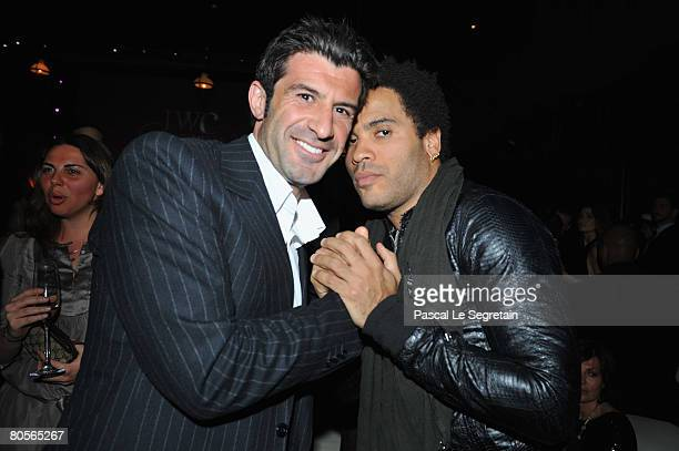 Luis Figo and Lenny Kravitz attend 'The Crossing' gala event hosted by IWC Schaffhausen held at the Geneva Palaexpo on April 8, 2008 in Geneva,...