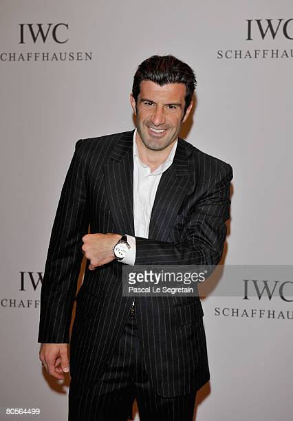 Luis Figo attends 'The Crossing' gala event hosted by IWC Schaffhausen held at the Geneva Palaexpo on April 8 2008 in Geneva Switzerland