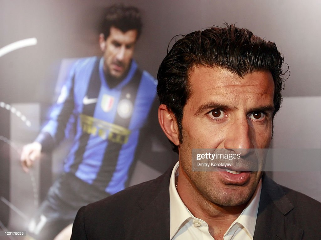 Luis Figo during the UEFA Champions League Trophy Tour 2011 on September 23, 2011 in Moscow, Russia.