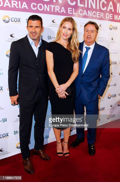 Luis Figo Helen Svedin and Angel Martin attend 'Charity Auction Fundacion Clinica Menorca' at Hotel Wellington on November 19 2019 in Madrid Spain
