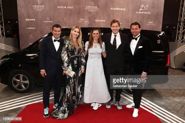 Luis Figo Helen Svedin Conny Lehmann Jens Lehmann and Roman Weidenfeller attends the 2020 Laureus World Sports Awards at Verti Music Hall on February...