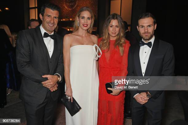 Luis Figo Helen Svedin Evelina Kamph and Juan Mata attend the IWC Schaffhausen Gala celebrating the Maison's 150th anniversary and the launch of its...