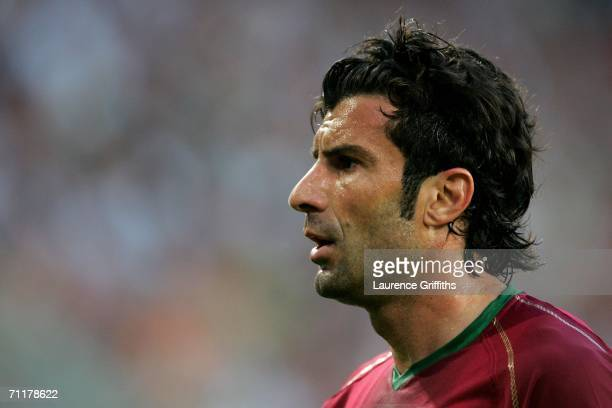 Luis Figo of Portugal looks on during the FIFA World Cup Germany 2006 Group D match between Angola and Portugal at the Stadium Koln on June 11, 2006...