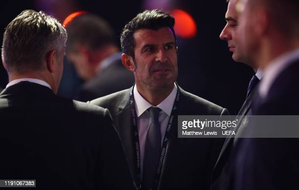 Luis Figo pictured during the UEFA Euro 2020 Final Draw Ceremony at Romexpo on November 30, 2019 in Bucharest, Romania.