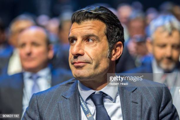 Luis Figo Portugal former professional football player during the UEFA Nations League Draw 2018 at Swiss Tech Convention Center on January 24 2018 in...