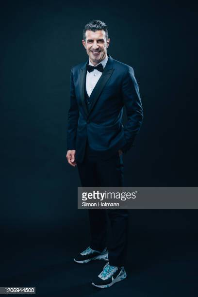 Luis Figo poses backstage during the 2020 Laureus World Sports Awards show at Verti Music Hall on February 17 2020 in Berlin Germany