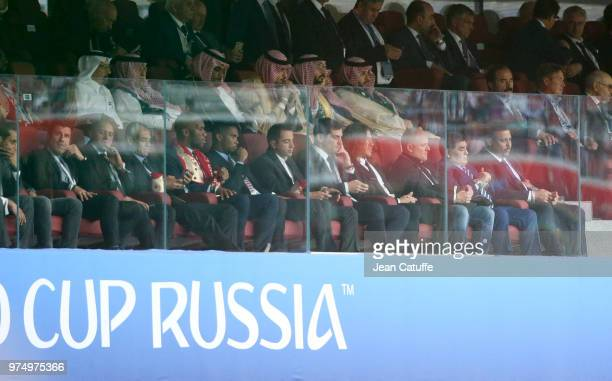 Luis Figo Roberto Carlos Cafu Didier Drogba Samuel Eto'o Xavi Hernandez Iker Casillas Carles Puyol Diego Maradona Ronaldo during the 2018 FIFA World...