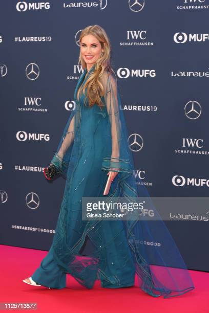 Luis Figo wife Helen Svedin during the Laureus World Sports Awards 2019 at Monte Carlo Sporting Club on February 18 2019 in Monte Carlo Monaco