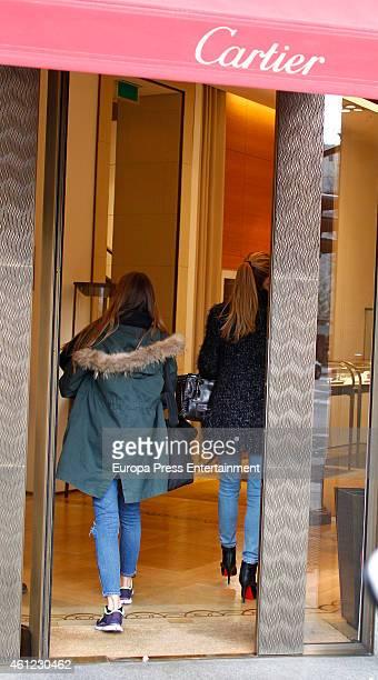 Luis Figo's wife Helen Svedin and her daughter Daniela Figo are seen on December 13 2015 in Madrid Spain