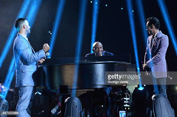 Luis Figueroa and Marc Anthony perform onstage at the Univision's 13th Edition Of Premios Juventud Youth Awards at Bank United Center on July 14 2016...