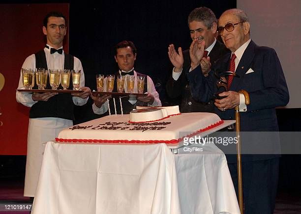 Luis Filipe Vieira and Jose Gonzalez Benfica's member number 1 during SL Benfica 103rd Birthday Gala Party at the Casino Estoril Several Benfica's...