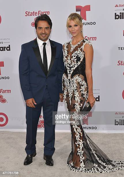 Luis Fonsi and Agueda Lopez arrive at 2015 Billboard Latin Music Awards presented bu State Farm on Telemundo at Bank United Center on April 30 2015...