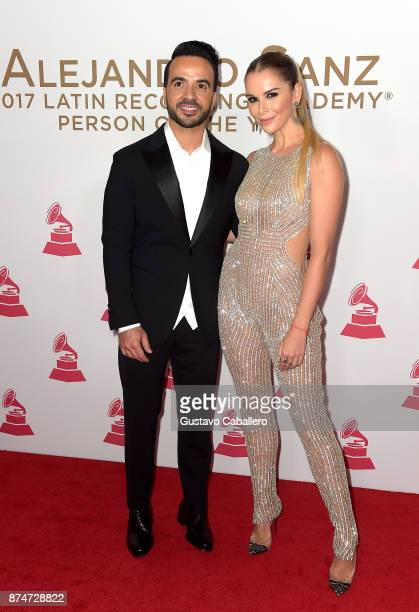 Luis Fonsi and Agueda Lopez attend the 2017 Person of the Year Gala honoring Alejandro Sanz at the Mandalay Bay Convention Center on November 15 2017...