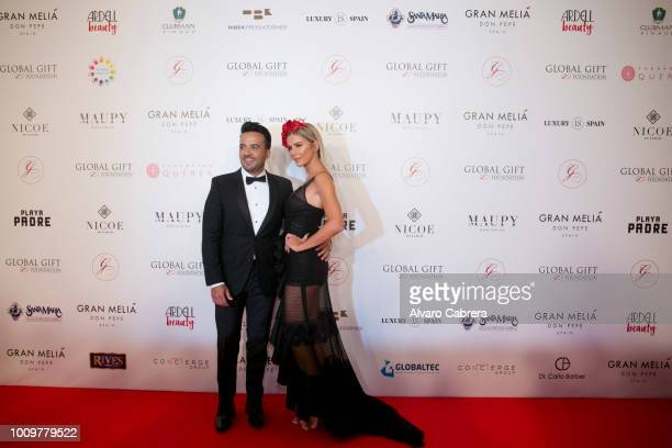 Luis Fonsi and Agueda Lopez attend The Global Gift Gala Marbella 2018 on July 29 2018 in Marbella Spain