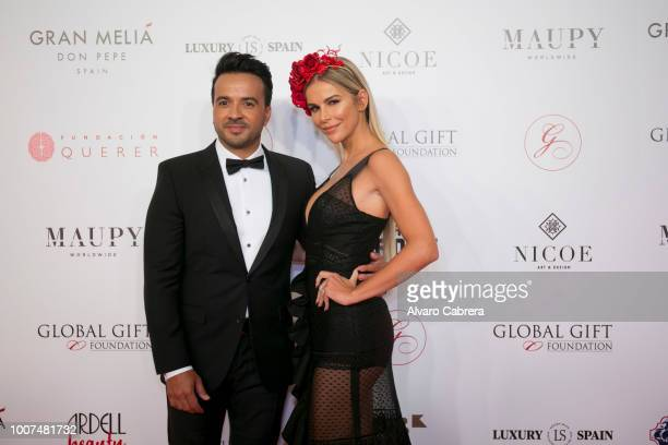 Luis Fonsi and Agueda Lopez on July 29 2018 in Marbella Spain