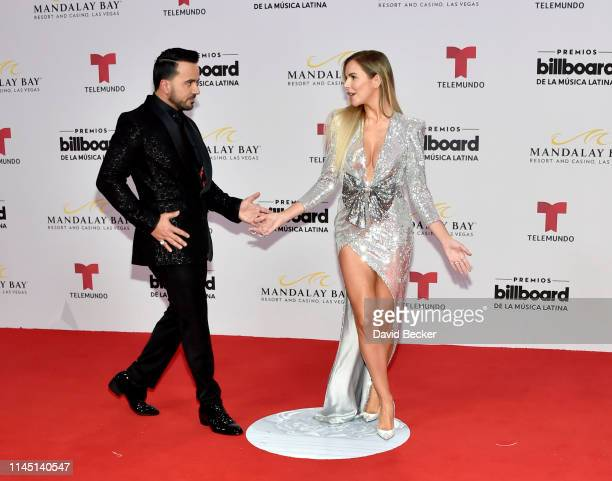 Luis Fonsi and Águeda López attend the 2019 Billboard Latin Music Awards at the Mandalay Bay Events Center on April 25 2019 in Las Vegas Nevada