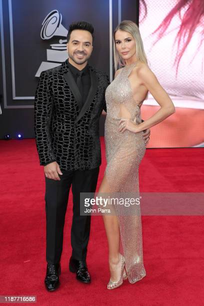 Luis Fonsi and Águeda López attend the 20th annual Latin GRAMMY Awards at MGM Grand Garden Arena on November 14 2019 in Las Vegas Nevada