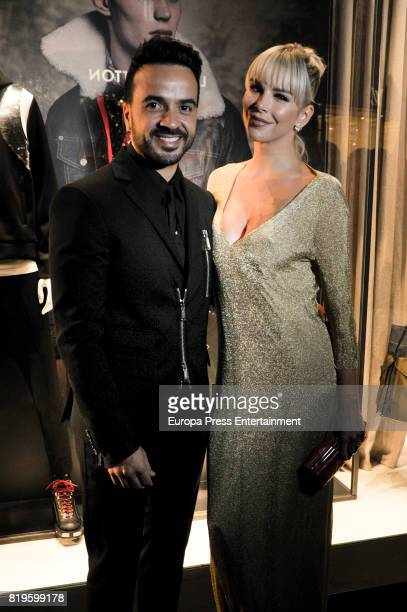 Luis Fonsi and his wife Agueda Lopez attend Dsquared Opening Store on June 30 2017 in Marbella Spain