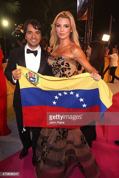 Luis Fonsi and Marjorie de Sousa attends Premio Lo Nuestro a la Musica Latina 2014 at American Airlines Arena on February 20 2014 in Miami Florida