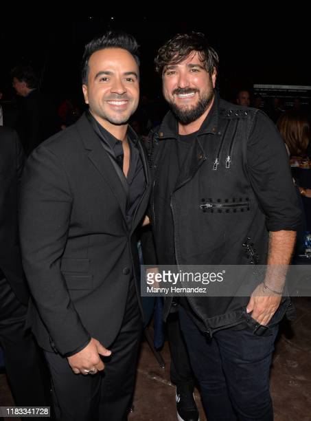 Luis Fonsi Antonio Orozco at the Latin Songwriters Hall of Fame 2019 La Musa Awards at the James L Knight Center in Miami FL on October 24 2019